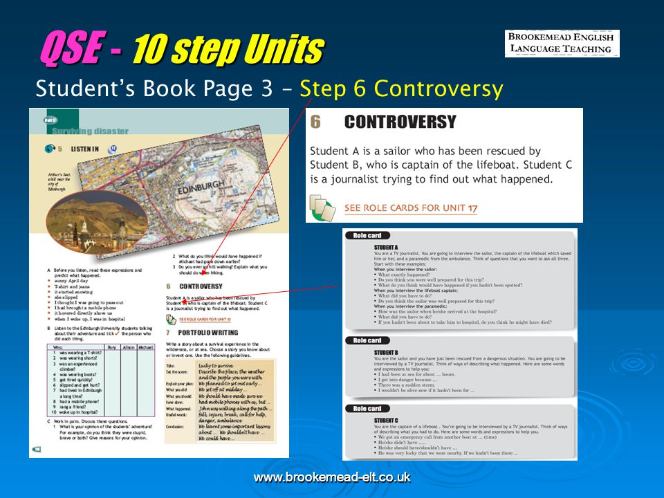 QSE - 10 step Units Student's Book Page 3 – Step 6 Controversy