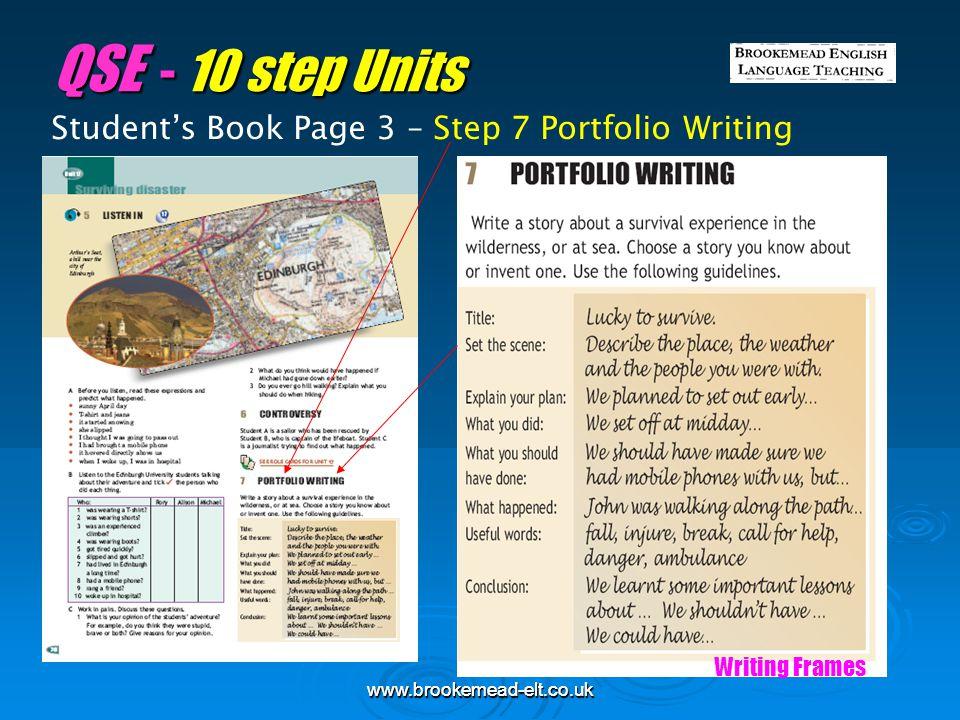 QSE - 10 step Units Student's Book Page 3 – Step 7 Portfolio Writing
