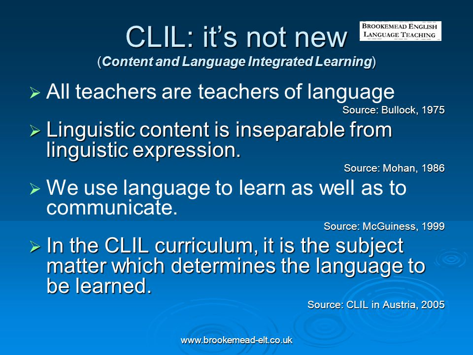 CLIL: it's not new (Content and Language Integrated Learning)