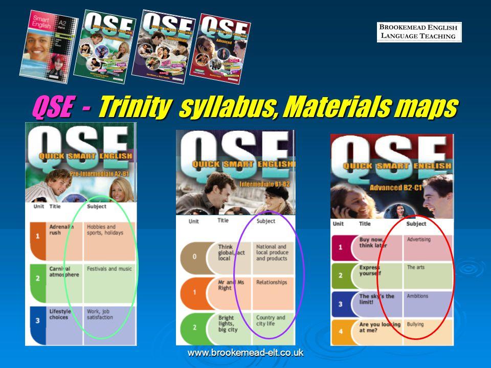 QSE - Trinity syllabus, Materials maps