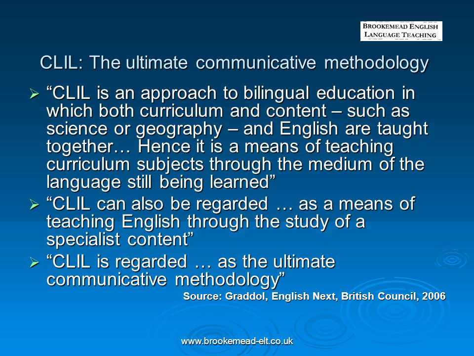 CLIL: The ultimate communicative methodology