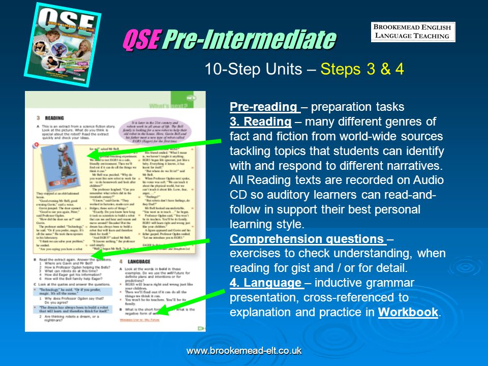 QSE Pre-Intermediate 10-Step Units – Steps 3 & 4
