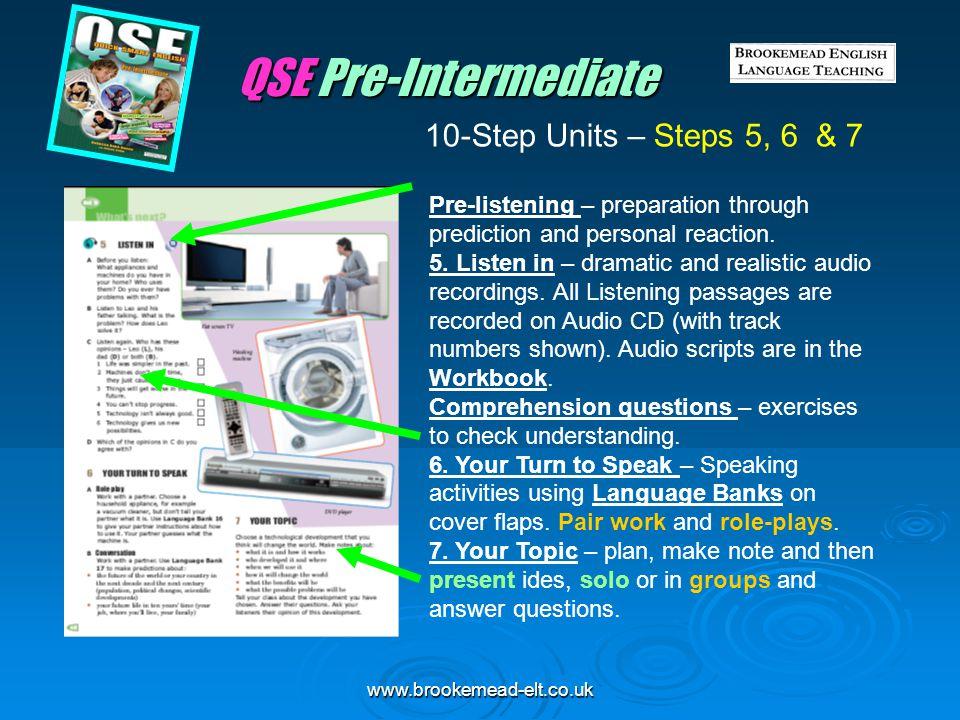 QSE Pre-Intermediate 10-Step Units – Steps 5, 6 & 7