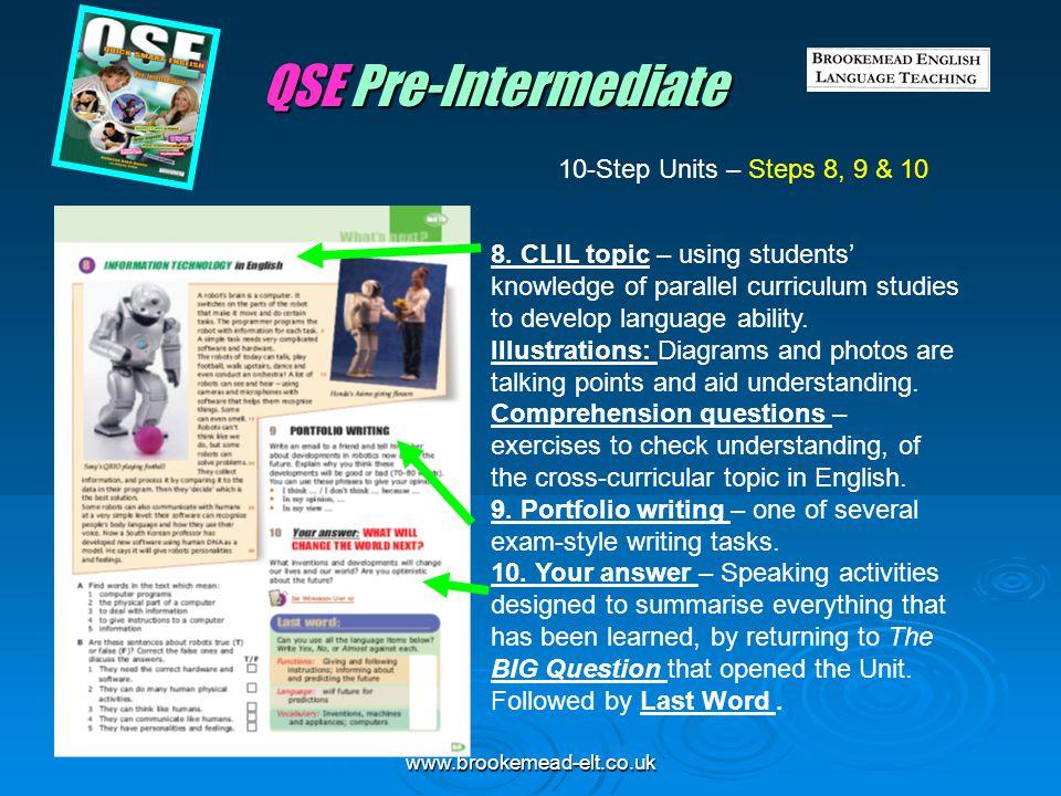QSE Pre-Intermediate 10-Step Units – Steps 8, 9 & 10