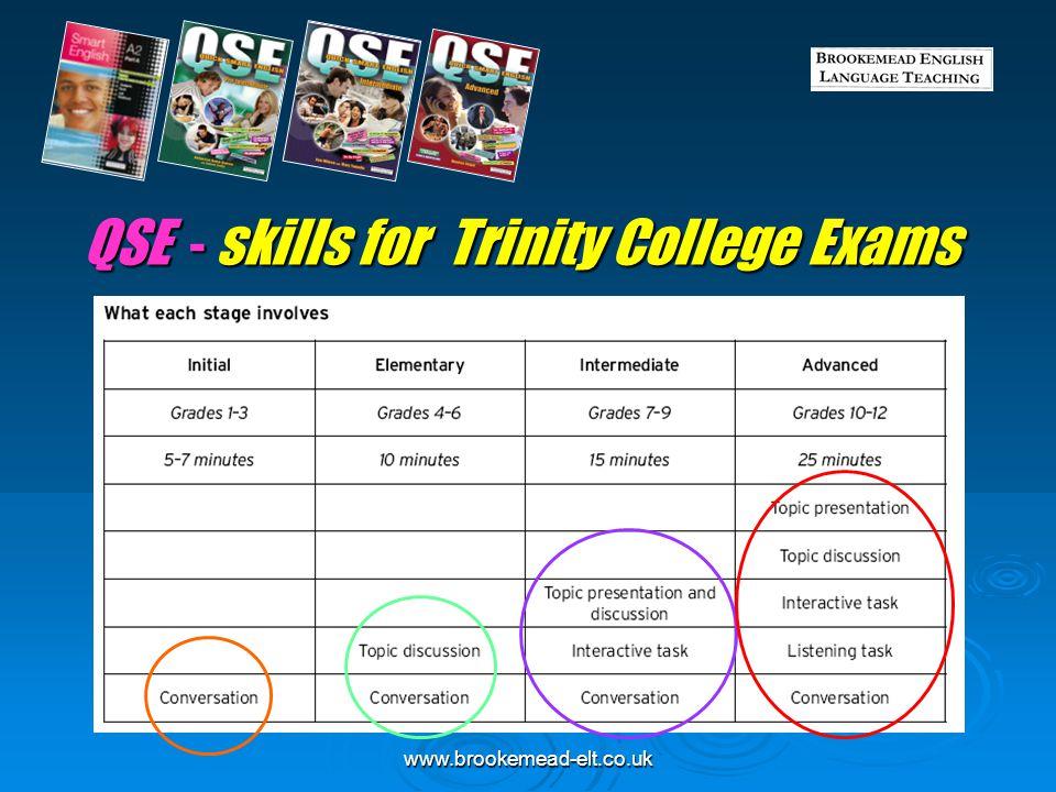 QSE - skills for Trinity College Exams