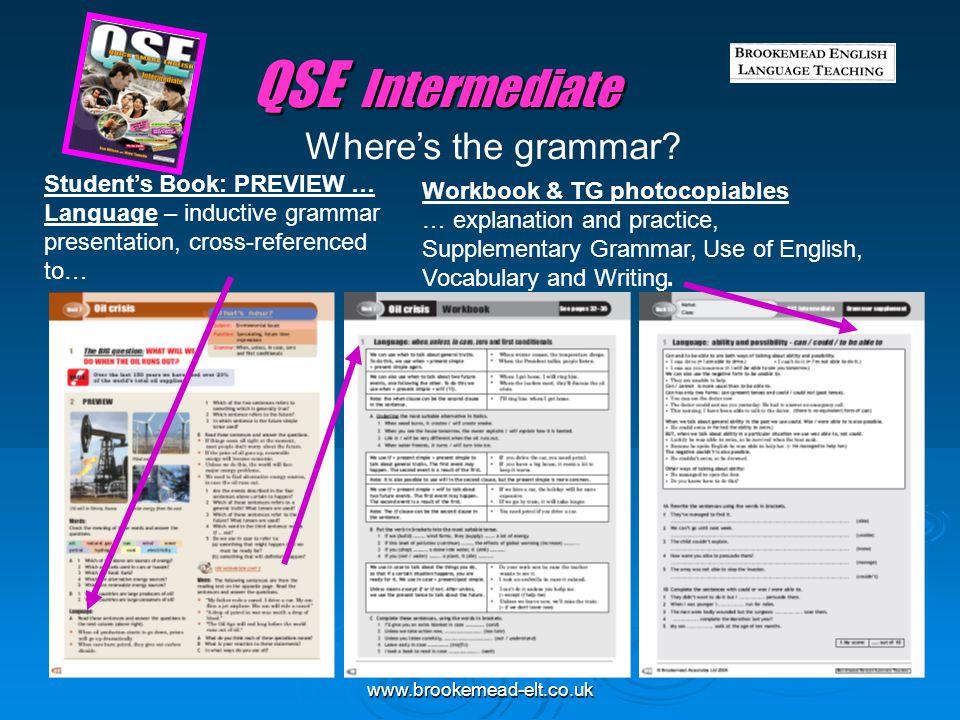 QSE Intermediate Where's the grammar