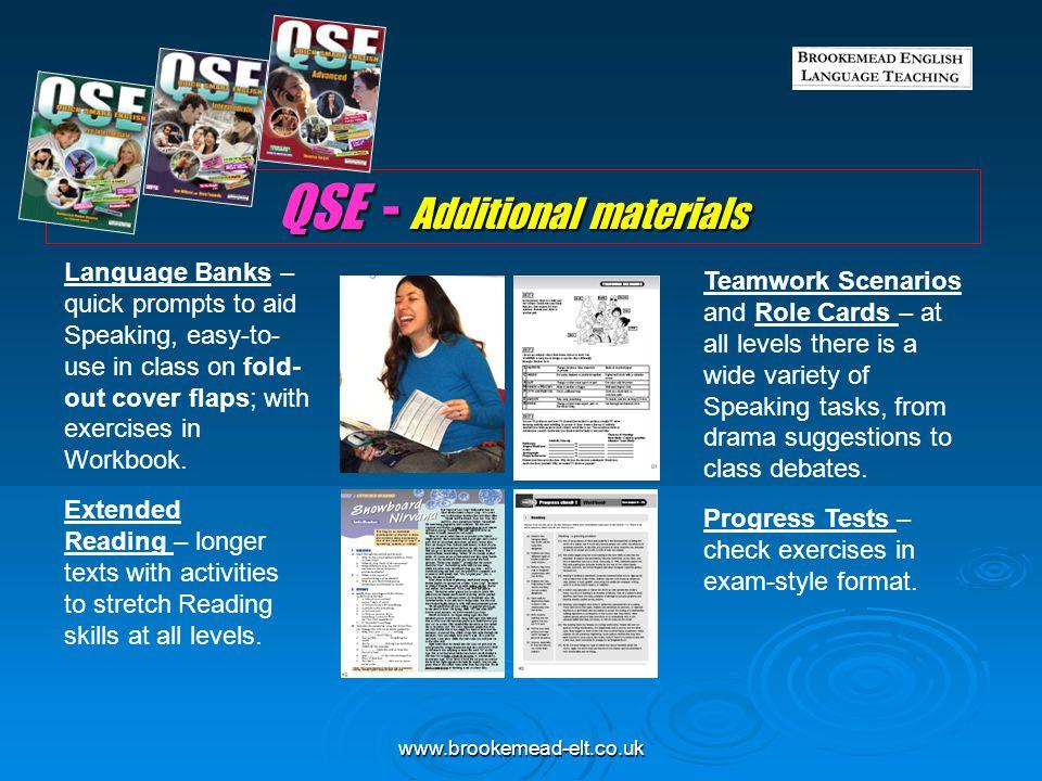 QSE - Additional materials