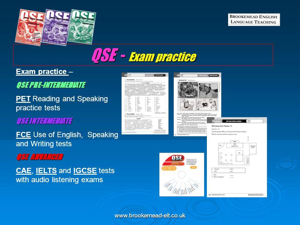 QSE - Exam practice Exam practice – QSE PRE-INTERMEDIATE