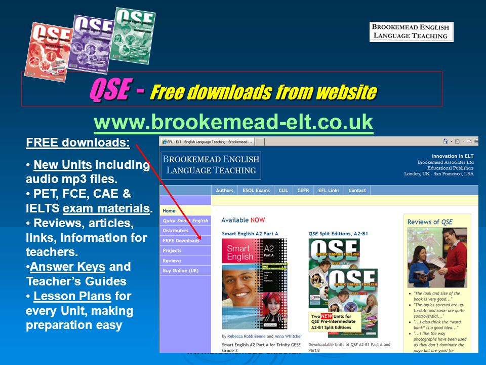 QSE - Free downloads from website