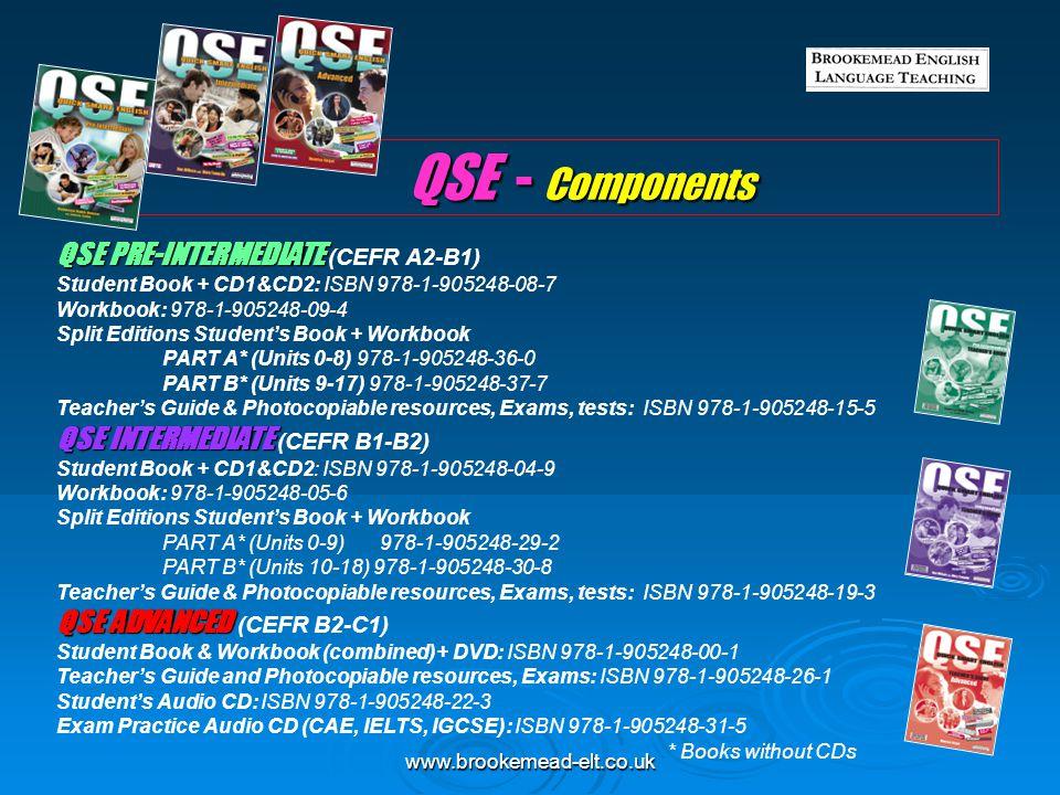 QSE - Components QSE PRE-INTERMEDIATE (CEFR A2-B1)