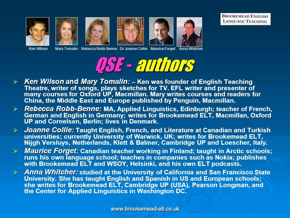 Ken Wilson Mary Tomalin Rebecca Robb Benne Dr Joanne Collie Maurice Forget Anna Whitcher