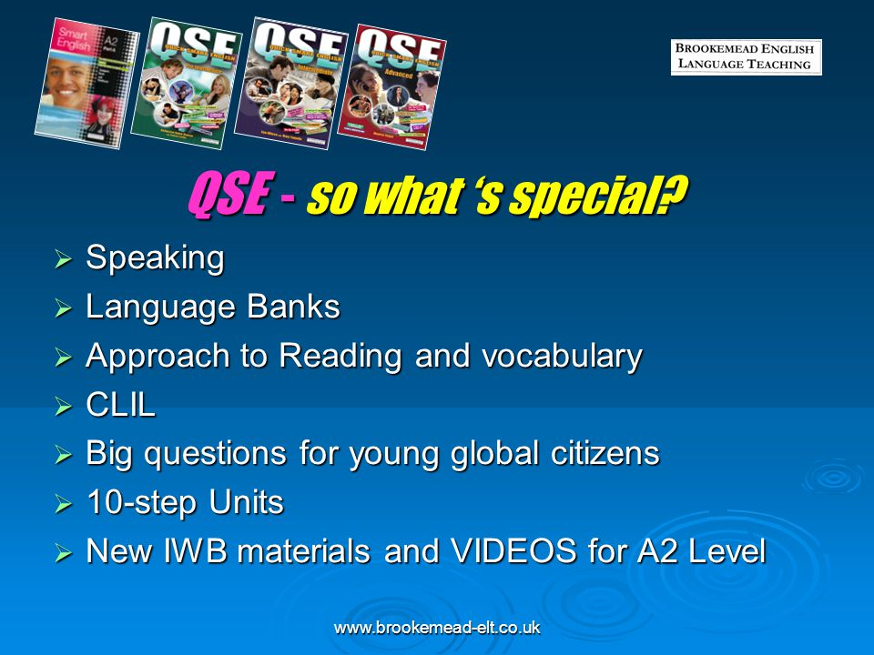 QSE - so what 's special Speaking Language Banks