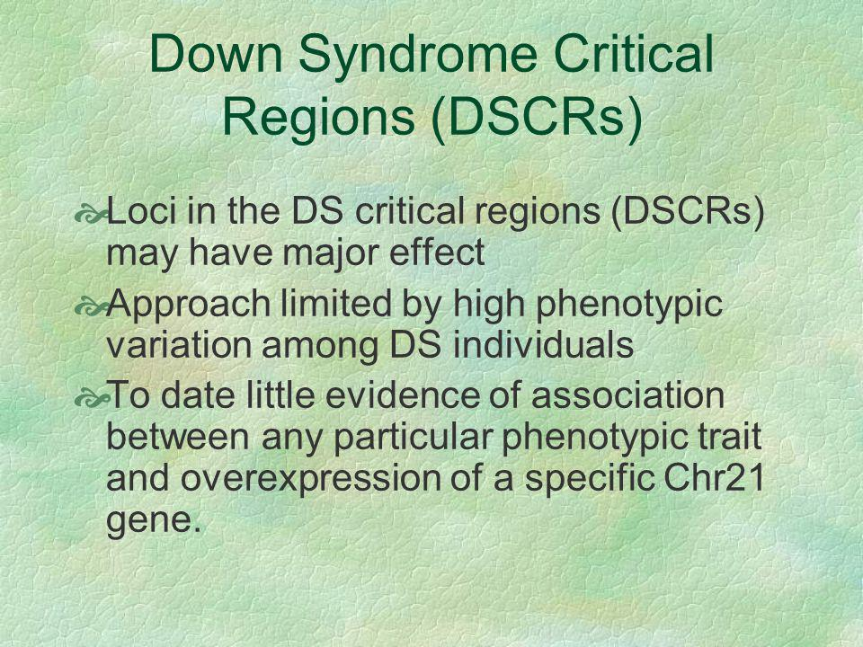 Down Syndrome Critical Regions (DSCRs)