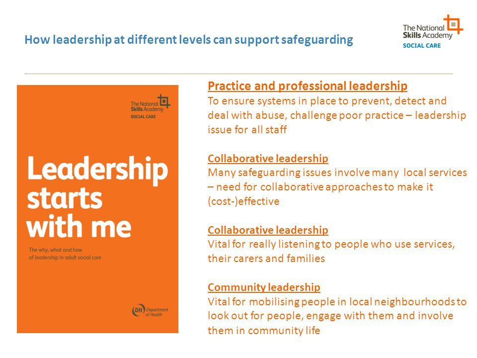 How leadership at different levels can support safeguarding