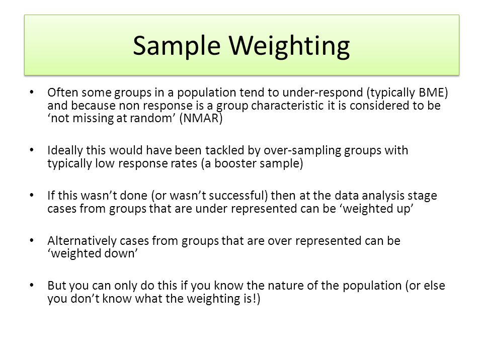 Sample Weighting