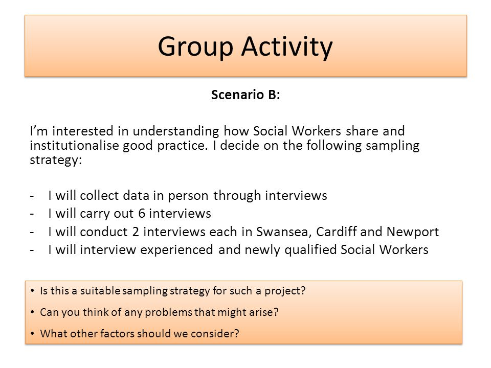 Group Activity Scenario B: