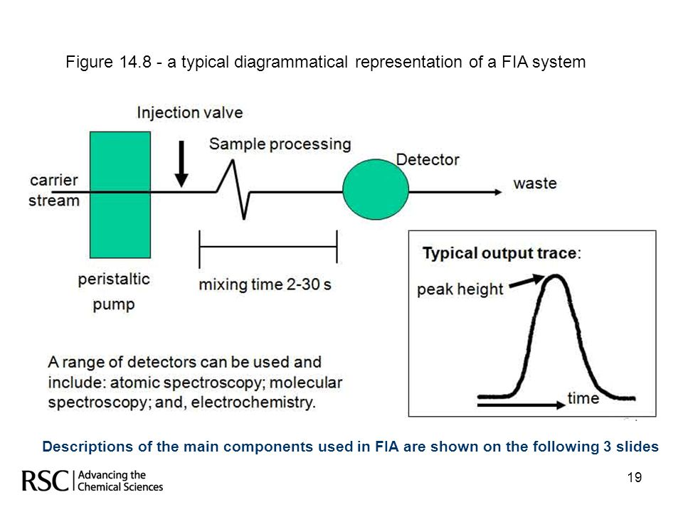 Figure 14.8 - a typical diagrammatical representation of a FIA system