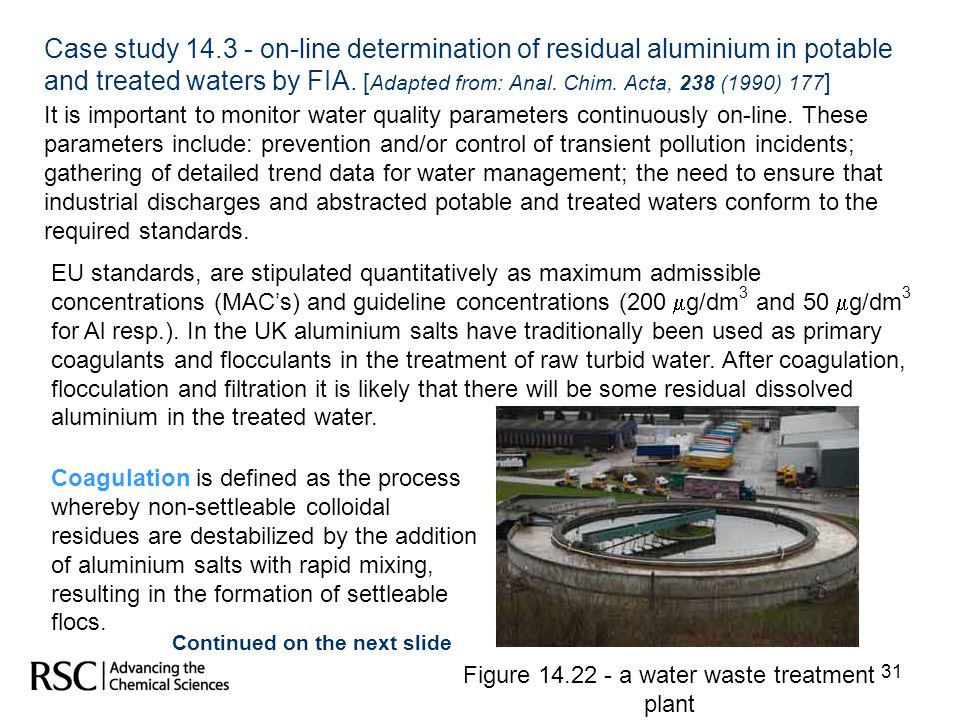 Figure 14.22 - a water waste treatment plant