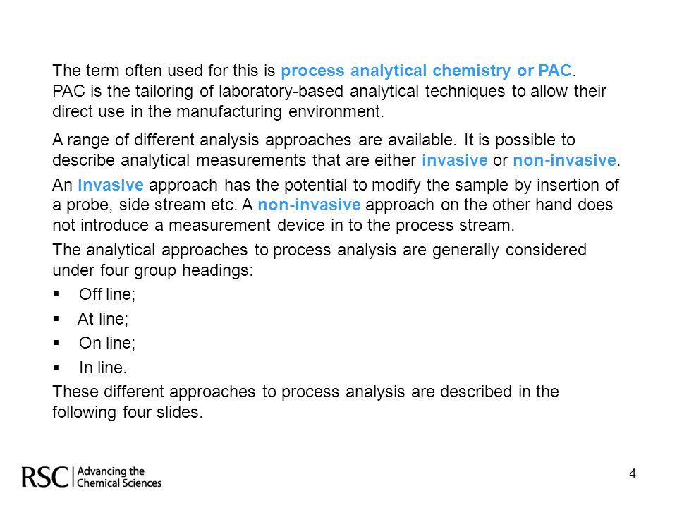 The term often used for this is process analytical chemistry or PAC