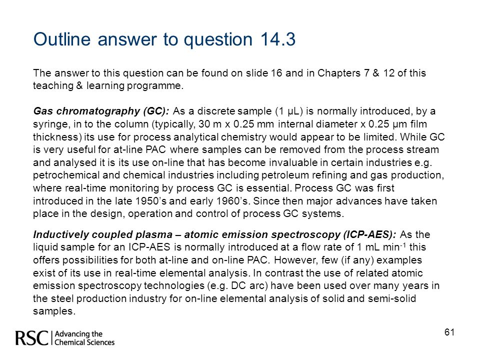 Outline answer to question 14.3