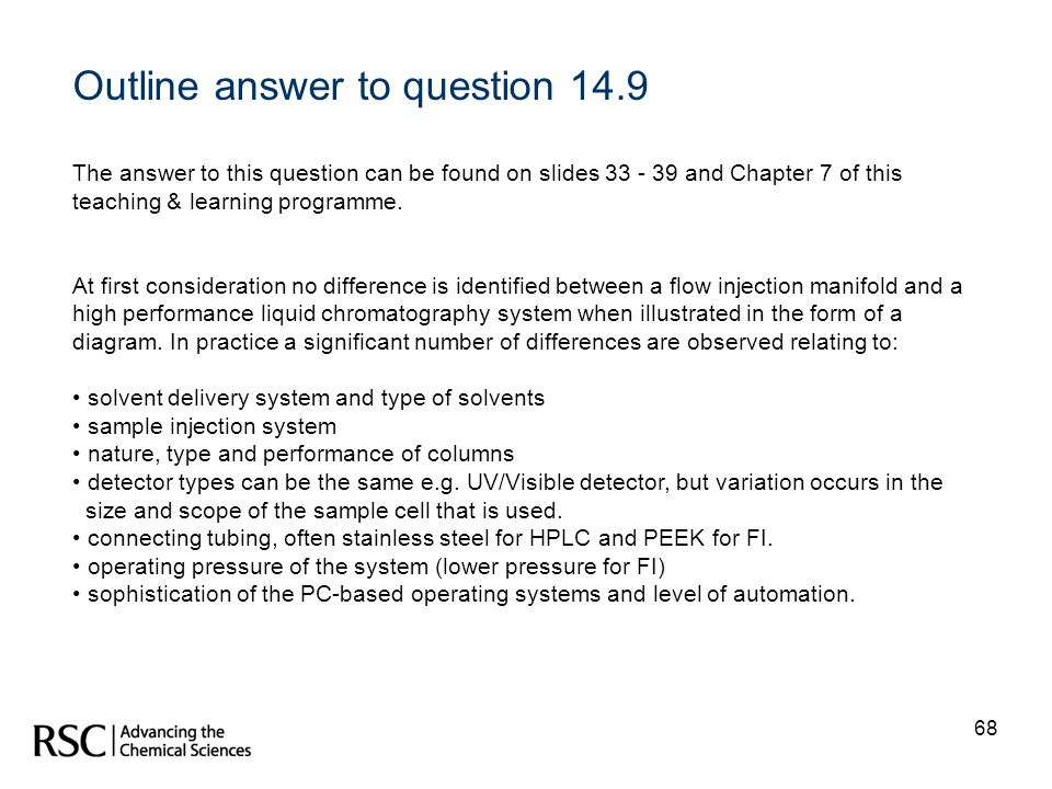 Outline answer to question 14.9