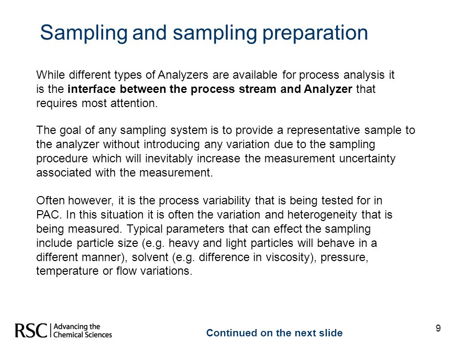 Sampling and sampling preparation