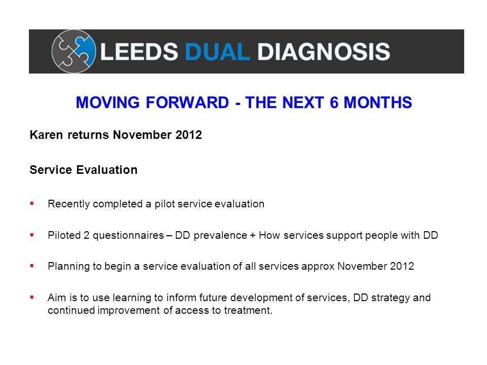 MOVING FORWARD - THE NEXT 6 MONTHS