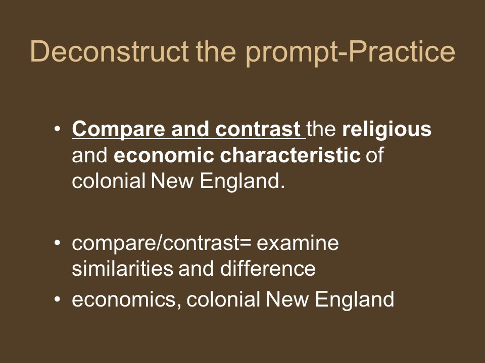 Deconstruct the prompt-Practice