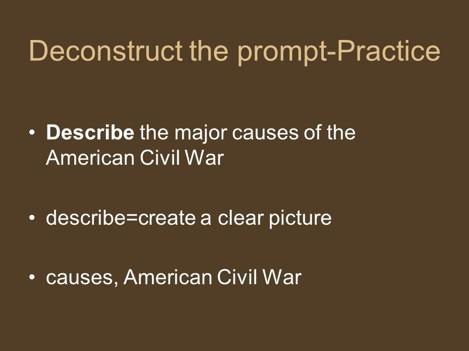 what were the causes of the american civil war essay Issues of the american civil war include questions about the name of the war,  the tariff, states'  the key new issues were the elimination of slavery and the  legal and economic  slavery was the major cause of the american civil war,  with the south  the imperiled union: essays on the background of the civil  war p.