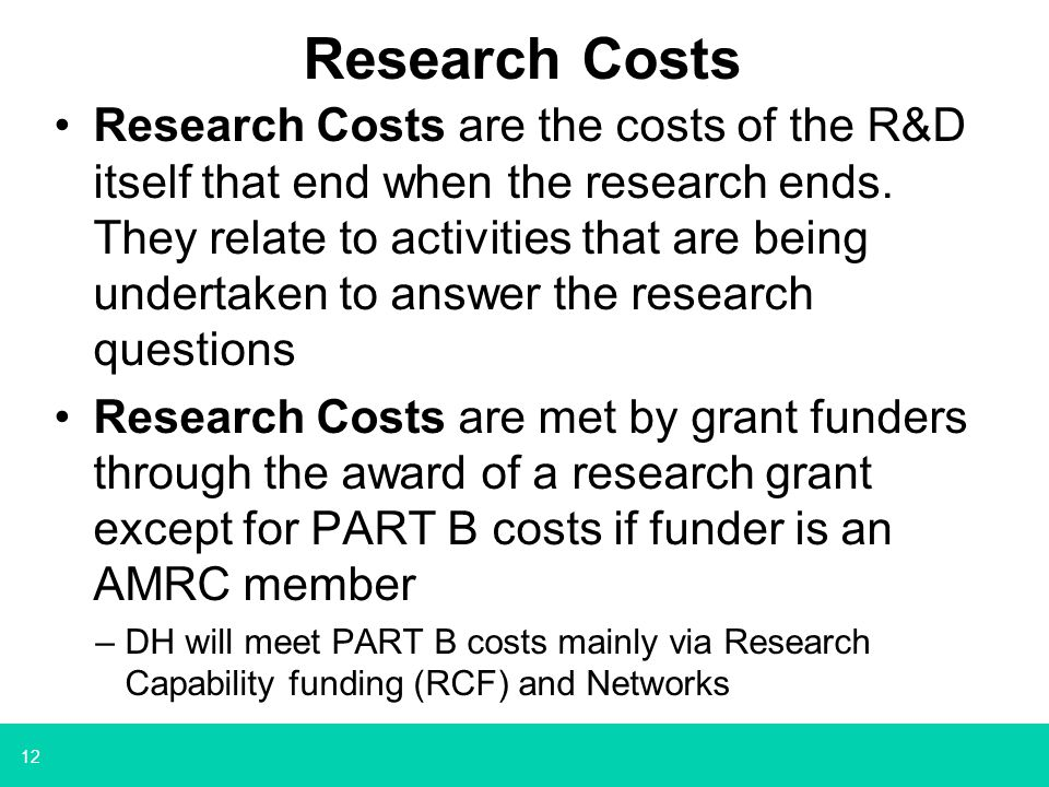 Research Costs