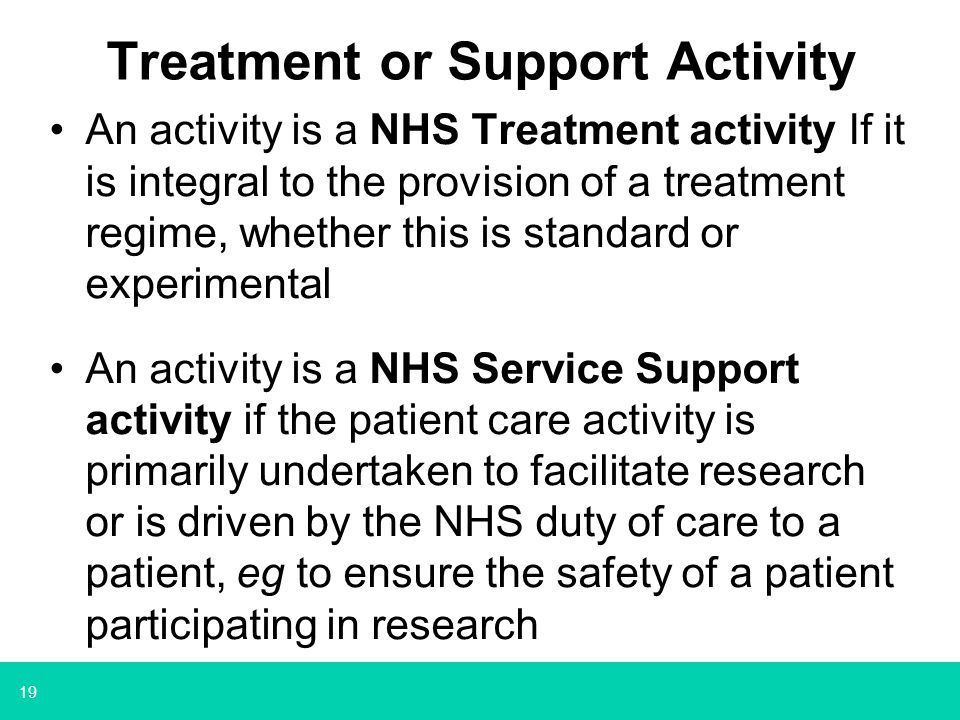 Treatment or Support Activity
