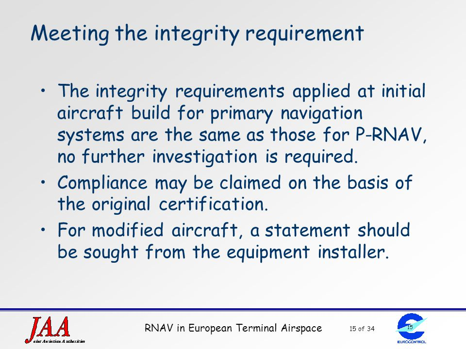 Meeting the integrity requirement