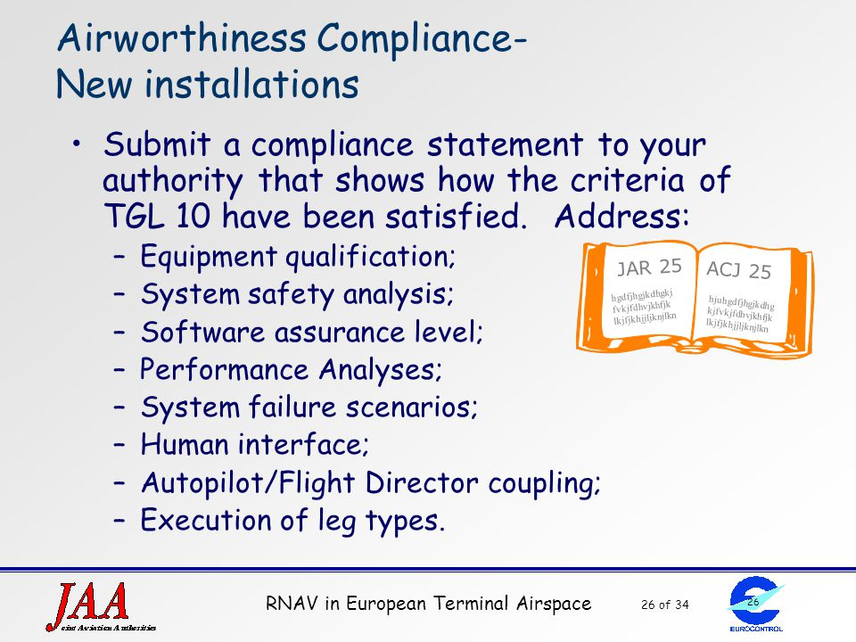 Airworthiness Compliance- New installations