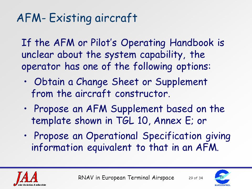 AFM- Existing aircraft