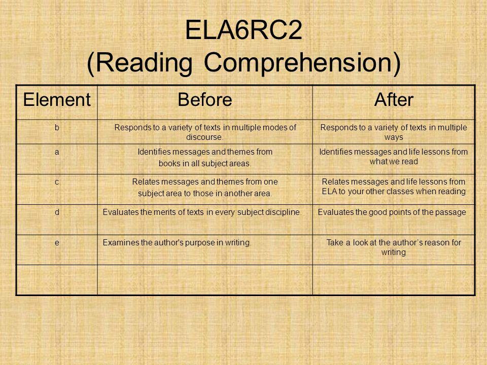 ELA6RC2 (Reading Comprehension)
