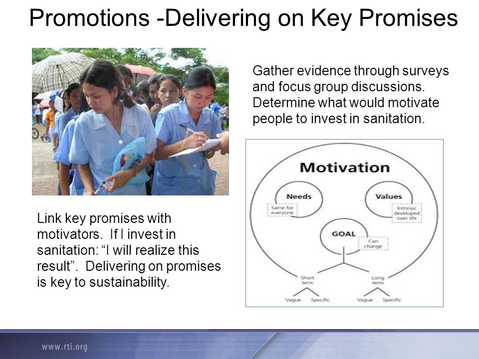 Promotions -Delivering on Key Promises