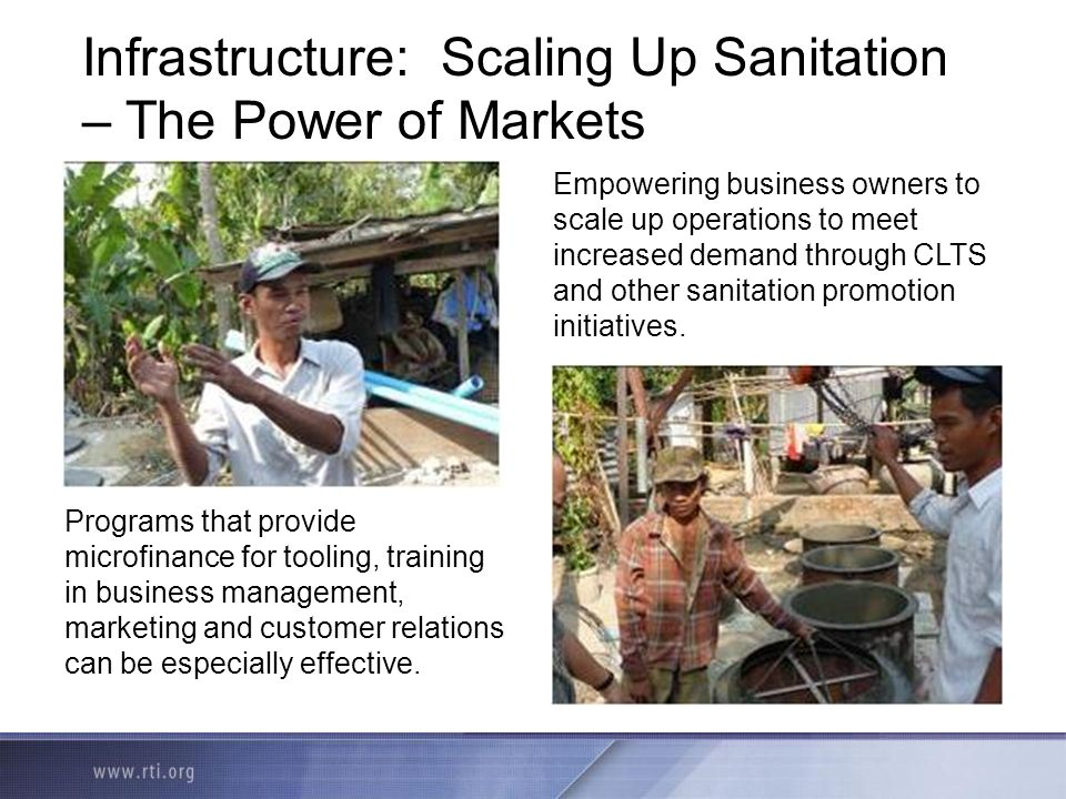 Infrastructure: Scaling Up Sanitation – The Power of Markets