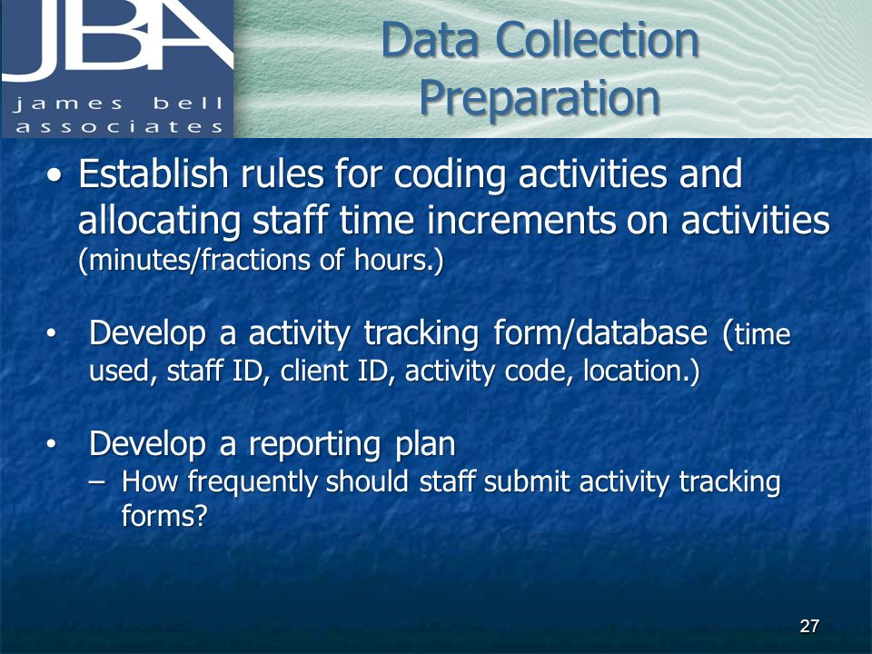 Data Collection Preparation