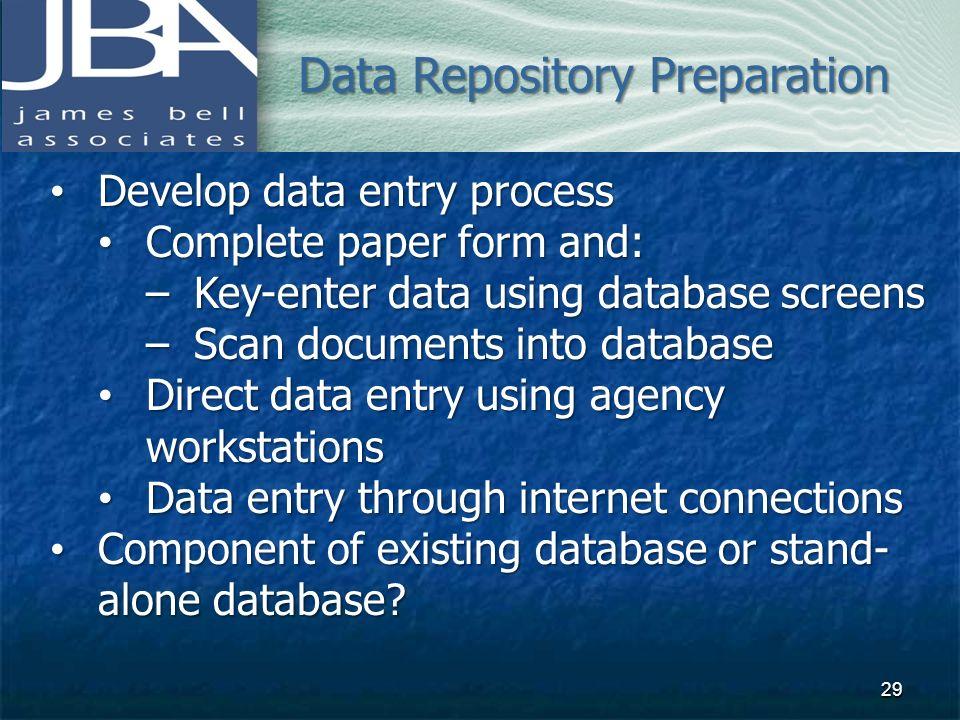 Data Repository Preparation