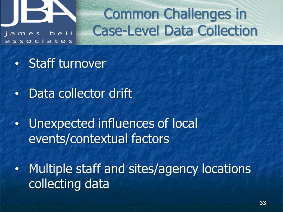Common Challenges in Case-Level Data Collection