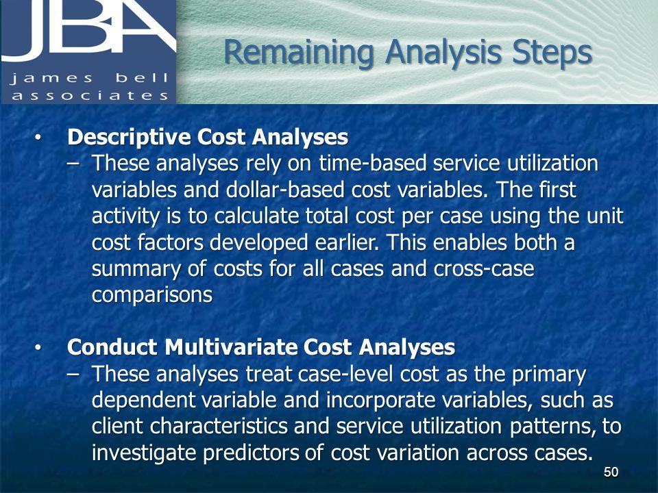 Remaining Analysis Steps