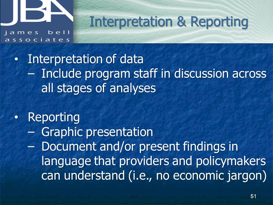 Interpretation & Reporting