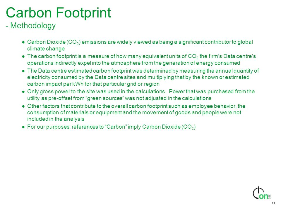 Carbon Footprint - Methodology
