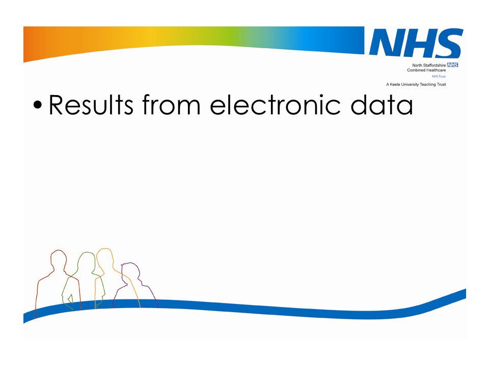 Results from electronic data