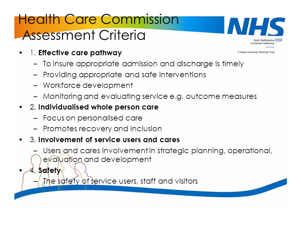 Health Care Commission Assessment Criteria