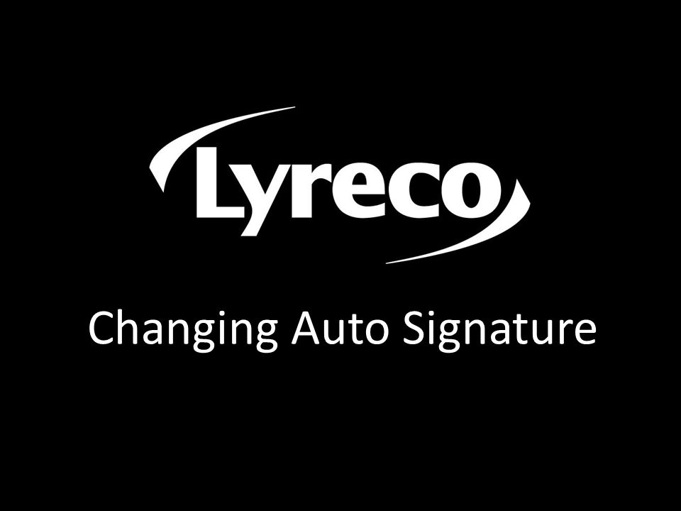 Changing Auto Signature