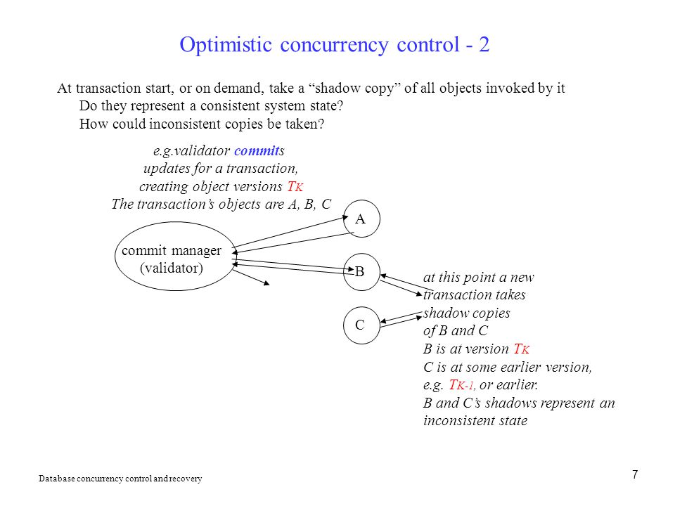 Optimistic concurrency control - 2