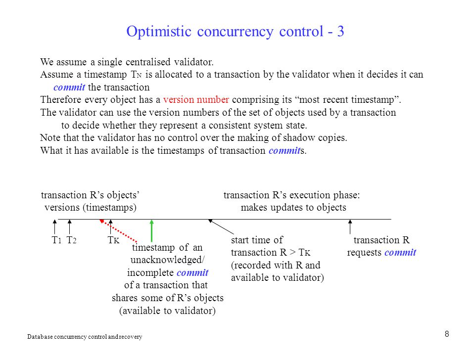 Optimistic concurrency control - 3