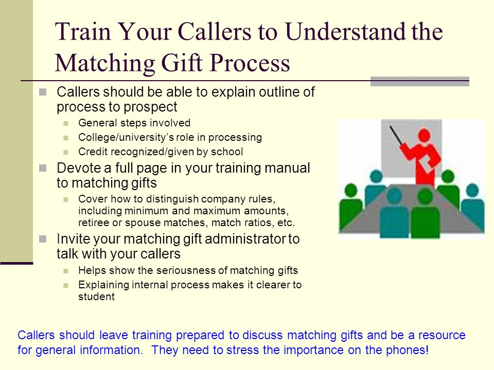 Train Your Callers to Understand the Matching Gift Process