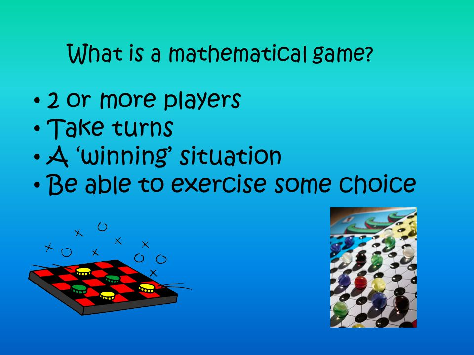 What is a mathematical game